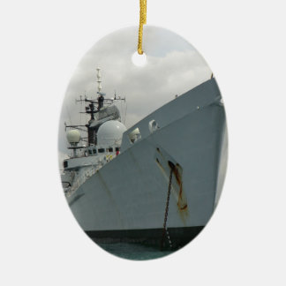 HMS Edinburgh Ceramic Oval Decoration