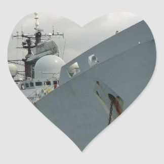 HMS Edinburgh Heart Sticker