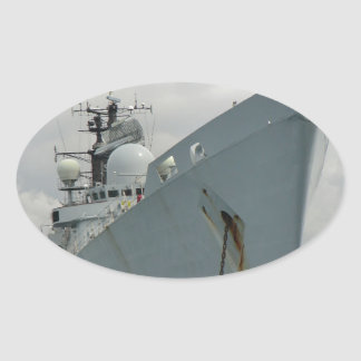 HMS Edinburgh Oval Sticker