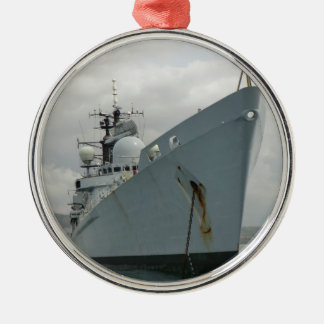HMS Edinburgh Silver-Colored Round Decoration