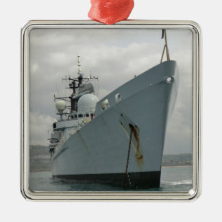 HMS Edinburgh Silver-Colored Square Decoration