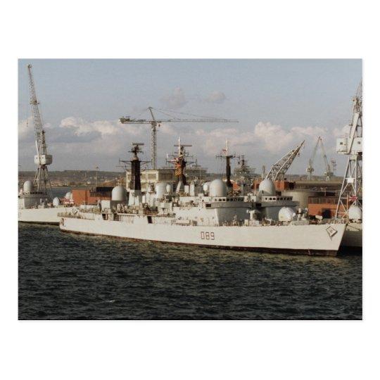 "HMS Exeter"" at Portsmouth naval dockyard, England Postcard"