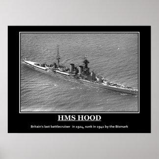 HMS Hood 1924 Vintage Poster