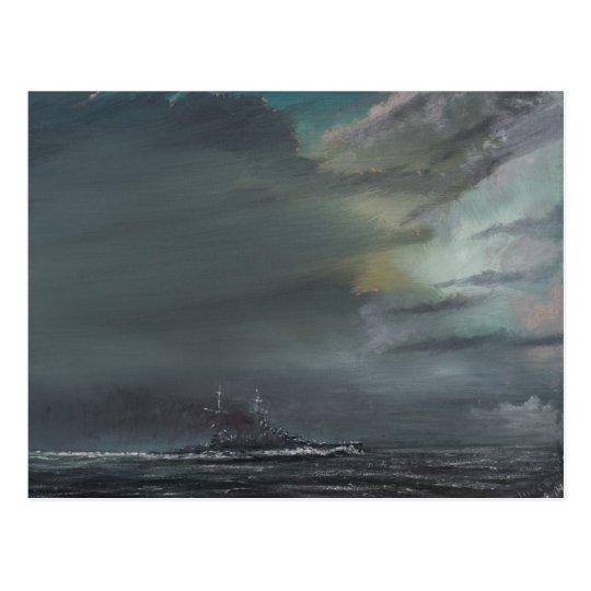 HMS Hood 1941 2014 Postcard