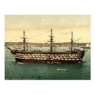 HMS Impregnable, Plymouth, Devon, England Postcard