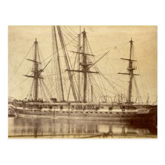 HMS Scylla - 19th Century Royal Navy Warship Postcard