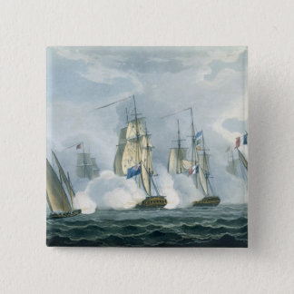 HMS Sirius, Captain Rowse engaging a French Squadr 15 Cm Square Badge