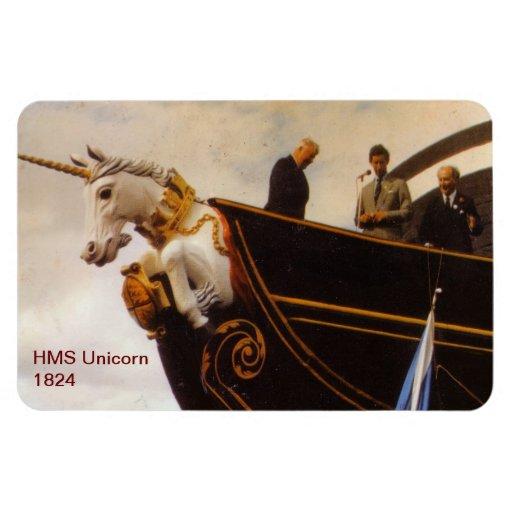 HMS Unicorn 1824 Rectangular Magnets