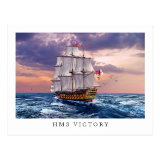 HMS Victory Flagship Painting Postcards