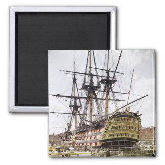 HMS Victory Square Magnet