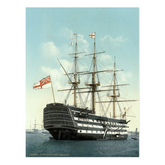 HMS Victory, Portsmouth, England c.1895 Postcard