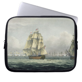 HMS Victory sailing for the French line flanked by Laptop Sleeve