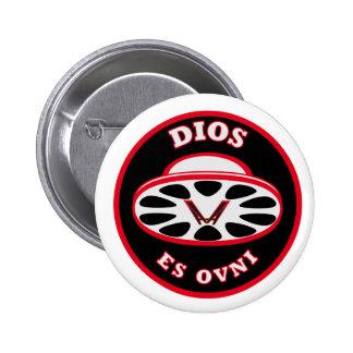 HMV God-be-ufo plates 6 Cm Round Badge