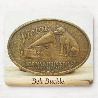 HMV, VICTOR, Belt Buckle. Mouse Pad