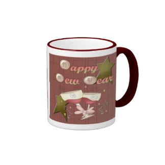 HNY Wine Glasses Ringer Mug