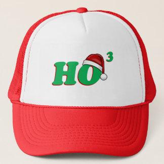 Ho 3 (Cubed) Christmas Humor Trucker Hat