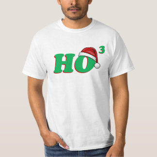 Ho 3 (Cubed) Funny Christmas Tee