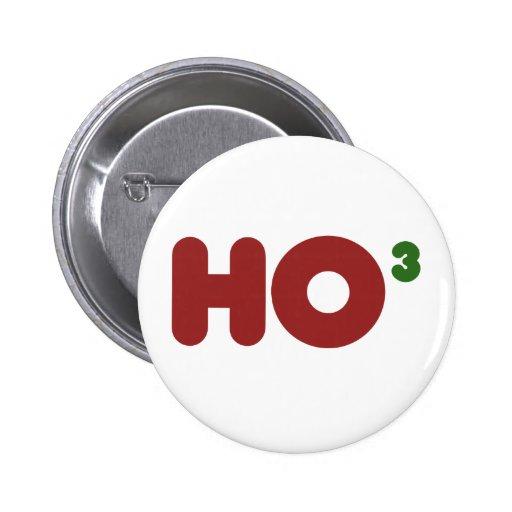 Ho 3 Nerdy funny christmas Buttons