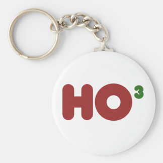 Ho 3 Nerdy funny christmas Basic Round Button Key Ring