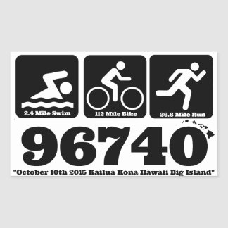 Ho Brah!..,Swim-Bike-Run Blk 96740 Oct 10,2015 Rectangular Sticker