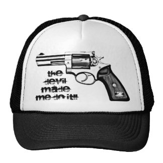 "Ho Brah!., "" THE DEVIL MADE ME DO IT"" Trucker Hat. Cap"