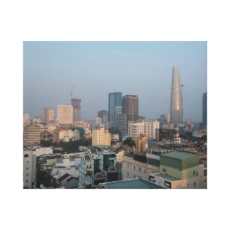 Ho Chi Minh City Skyline at dusk. Canvas Print