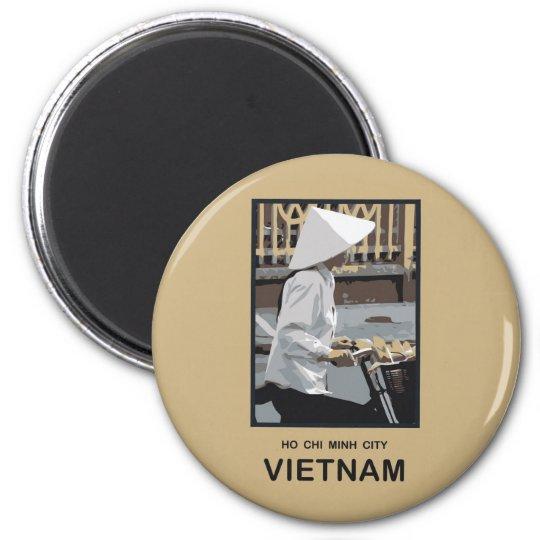Ho Chi Minh City Vietnam 6 Cm Round Magnet