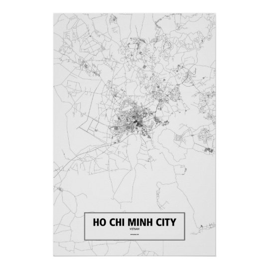 Ho Chi Minh City, Vietnam (black on white)