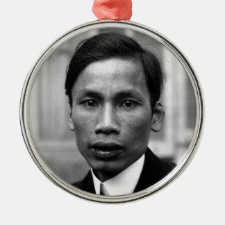 Ho Chi Minh Nguyen Ai Quoc Portrait 1921 Silver-Colored Round Decoration