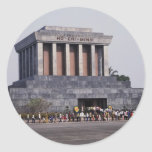 Ho Chi Minh's Mausoleum in Ba Dinh Square, Hanoi, Round Stickers