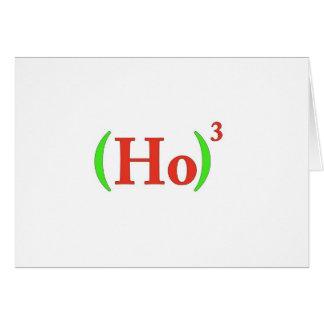 Ho-cubed Christmas Card