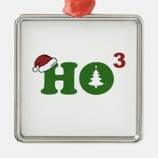Ho Cubed Merry Christmas Christmas Ornaments