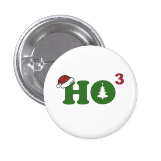 Ho Cubed Merry Christmas Pinback Buttons