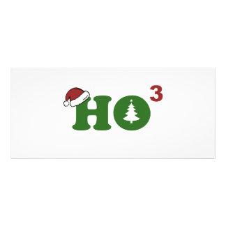 Ho Cubed Merry Christmas Rack Card Design