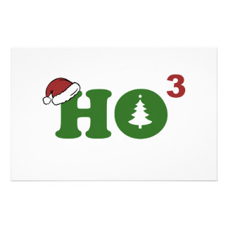 Ho Cubed Merry Christmas Stationery