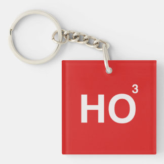 HO (CUBED) -.png Double-Sided Square Acrylic Key Ring