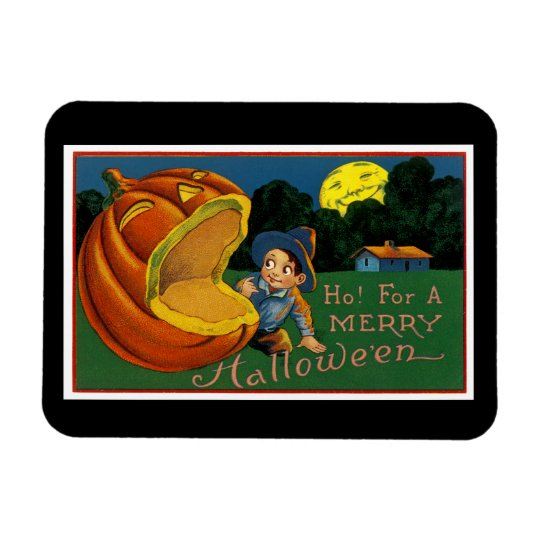 Ho! for  a Merry Halloween Rectangular Photo Magnet