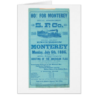 Ho for Monterey So. Pacific Advertisement (1652A) Card