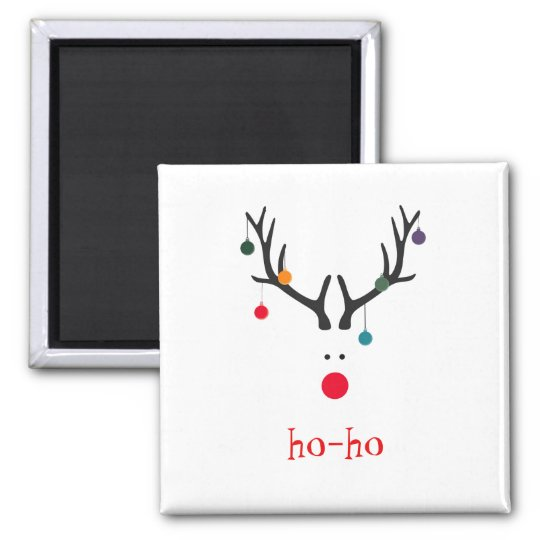Ho ho funny cute abstract Santa Claus reindeer