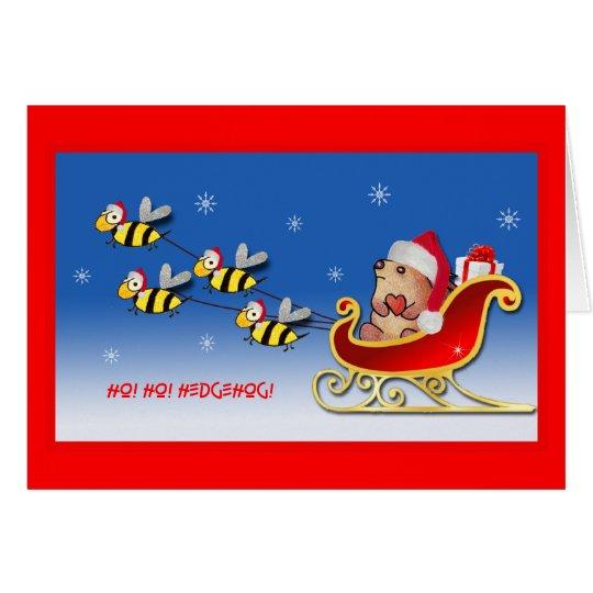 HO! HO! HEDGEHOG! Greeting Card