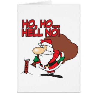 ho ho hell no santa chimney dilemma card