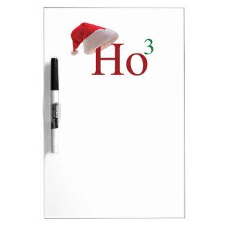 Ho Ho Ho 3 Merry Christmas to the 3rd power Dry Erase Board