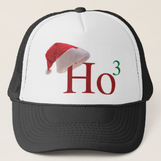 Ho Ho Ho 3 Merry Christmas to the 3rd power Trucker Hat