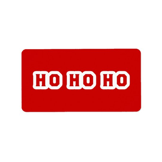 HO HO HO ADDRESS LABEL
