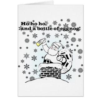 Ho, ho, ho, and a bottle of eggnog! Greeting Card