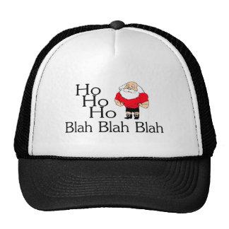 Ho Ho Ho Blah Blah Blah Christmas Cap