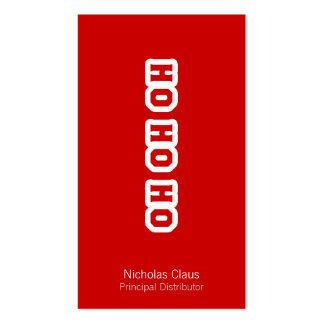 HO HO HO Double-Sided STANDARD BUSINESS CARDS (Pack OF 100)