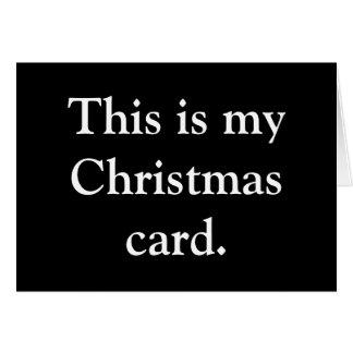 Ho. Ho. Ho. Card