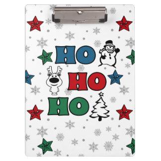Ho-Ho-Ho Christmas design Clipboard
