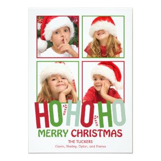 Ho Ho Ho Christmas Holiday Photo Cards Cards